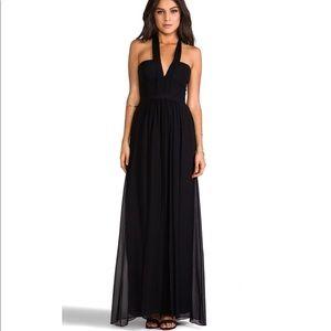 BCBGMAXAZRIA Starr Black Maxi Halter Dress size 8